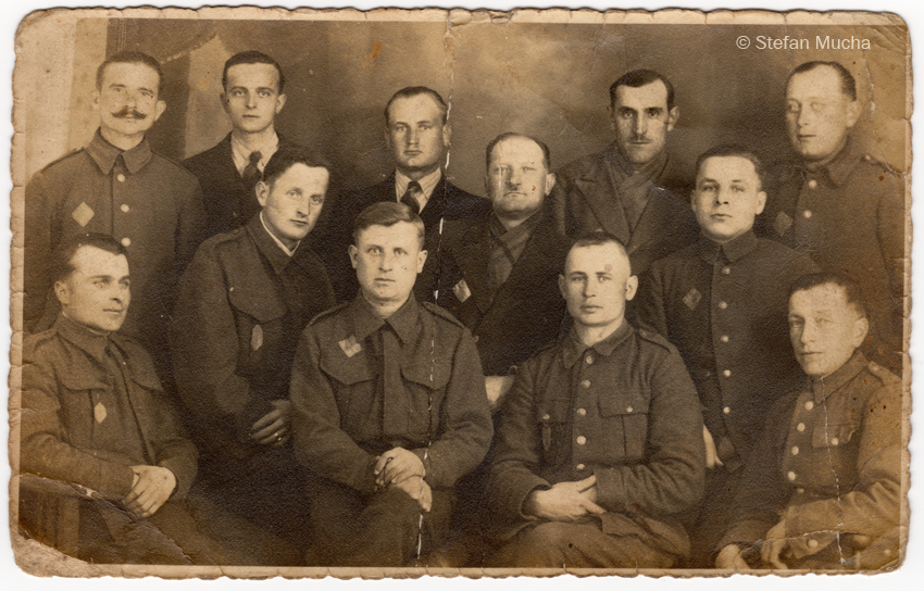 Polish Prisoners of War (PoW) wearing letter 'P' patches