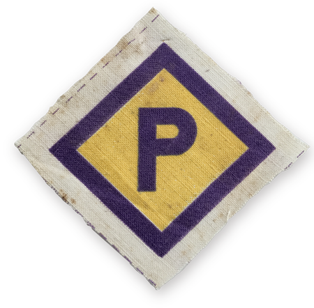Printed letter 'P'